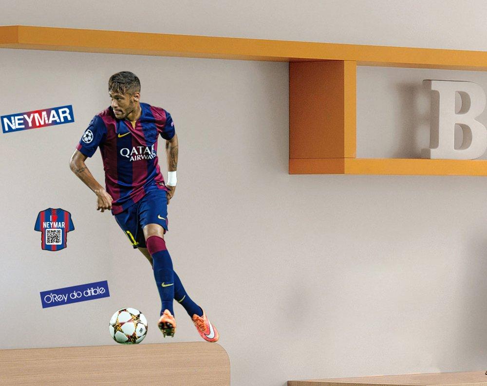 XL Set: pared adhesivo/pared - Neymar FC Barcelona fussbal ...