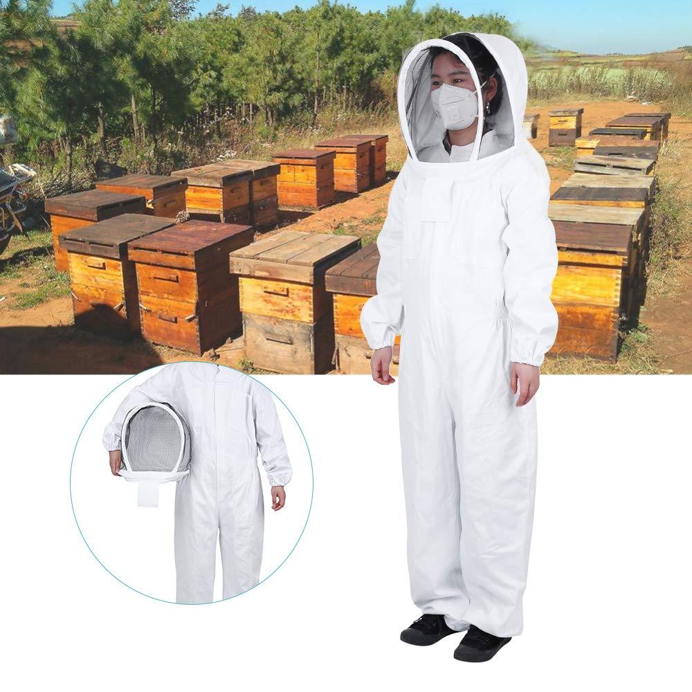 mufly Protettiva Apiarist Apicoltura Vestito con Staccabile Fencing Veil Protezione Totale Apicoltore Tuta Giacca Attrezzatura