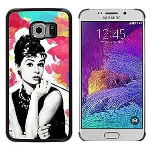 LECELL--Funda protectora / Cubierta / Piel For Samsung Galaxy S6 EDGE SM-G925 -- Cinema Movies Retro Vintage Star --