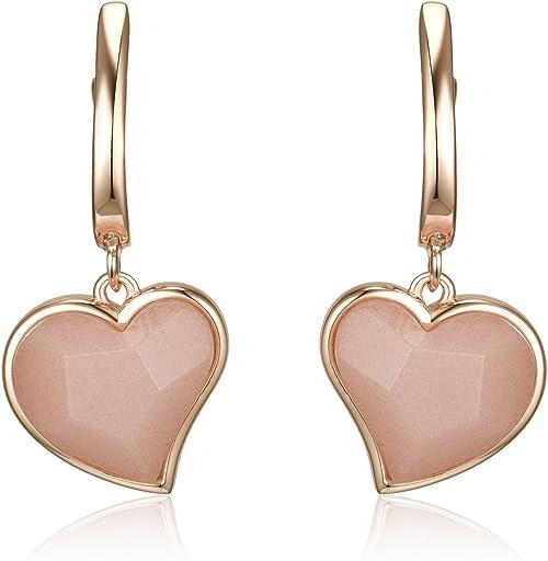 Wonderful Pink Rose Quartz Sterling Silver Overlay 4 Grams Stud//Earring 10 mm