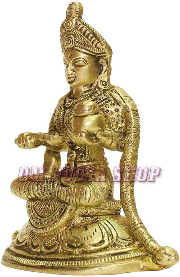 Om Pooja Shop Annapurna Devi‿Murti en Laiton d/éesse hindoue