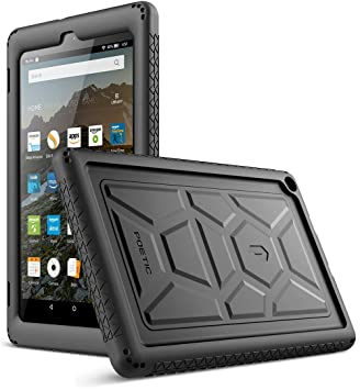 cheap for discount 4ef53 2e6c6 Poetic TurtleSkin Case for All-New Amazon Fire HD 8 Tablet (7th and 8th  Generation, 2017 and 2018 Release) - Heavy Duty Silicone case and ...