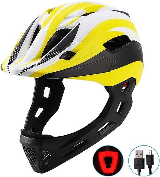 Yissma Kids Sports Helmet, Skater Helmet Casco de Bicicleta Scooter Casco Casco de Ciclismo Seguridad para niña Niño con USB Desmontable Luz Trasera Casco de Seguridad: Amazon.es: Hogar