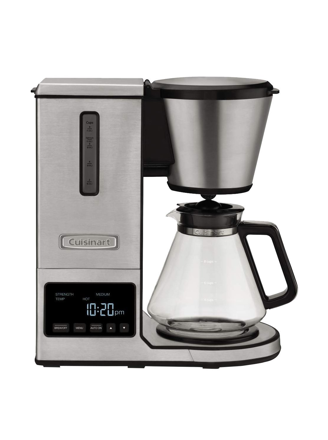 Cuisinart CPO-800 Pour Over Coffee Brewer Glass Carafe, Clear