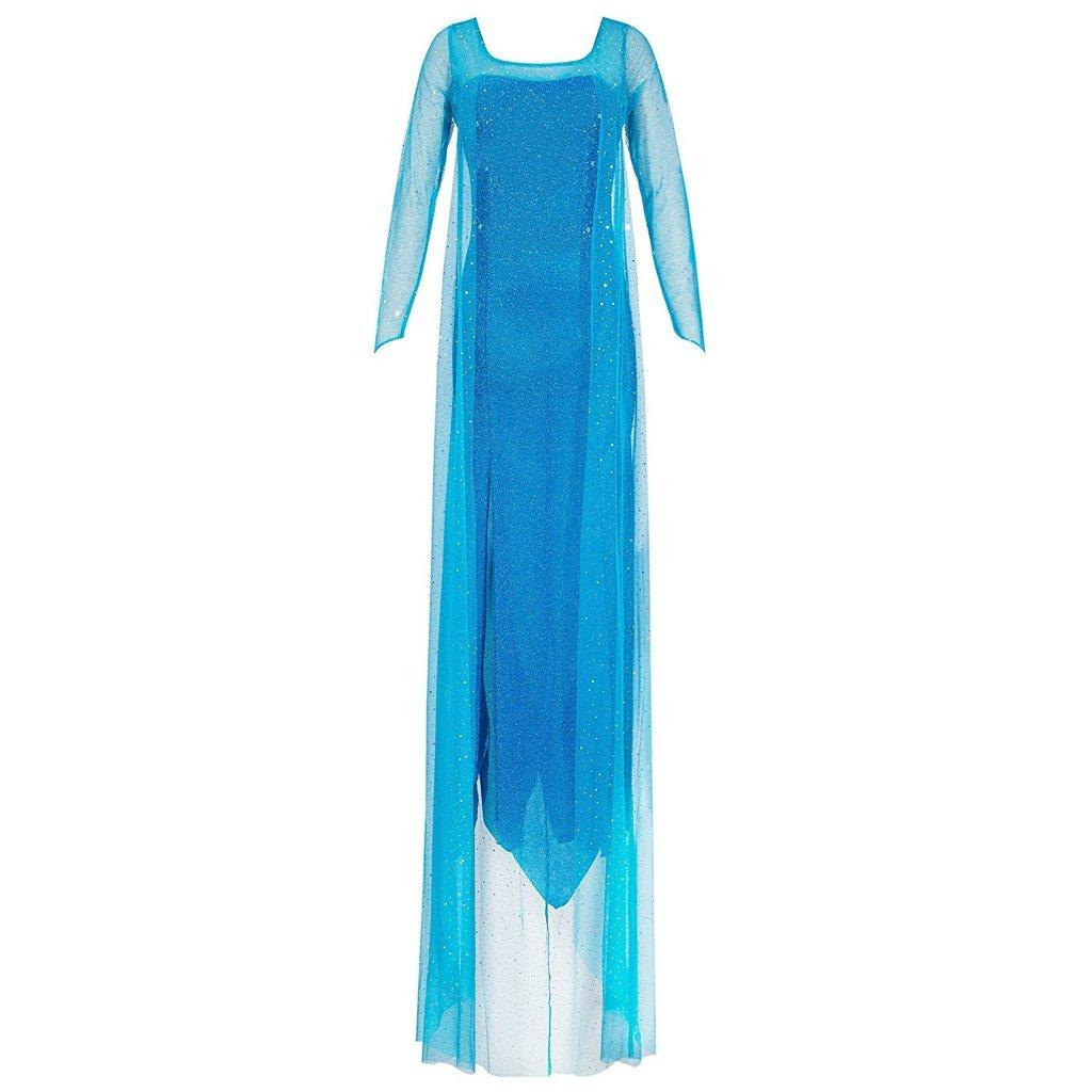 Katara 1768 Costume Donna Principessa Elsa Adulto Travestimento Frozen Donne Vestito Carnevale Halloween - Taglia L 1768-S