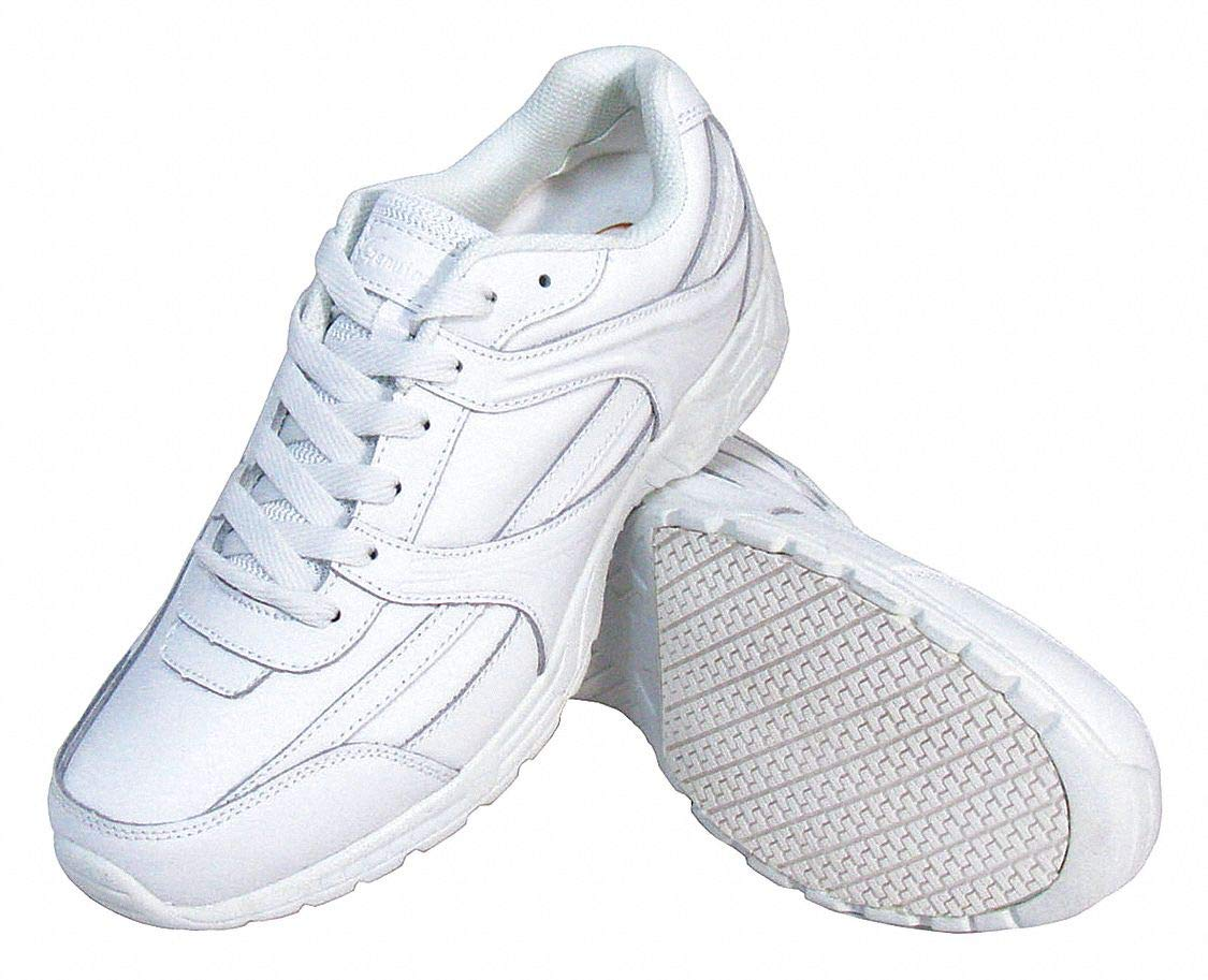 4''H Women x27;s Athletic Shoes, Plain Toe Type, Leather Upper Material, White, Size 11 by Genuine Grip (Image #1)