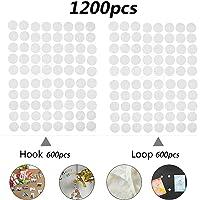 600 Pares Velcr Adhesivo Redondo, Lunares Adhesivo 10mm Velcr Adhesivo Cintas Autoadhesivo Puntos Pegajoso Monedas…