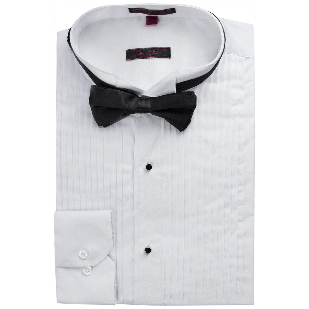 Art Hoffman Men's TXR-1 Regular Fit Tuxedo Shirt - White - 16.5 6-7 by Art Hoffman