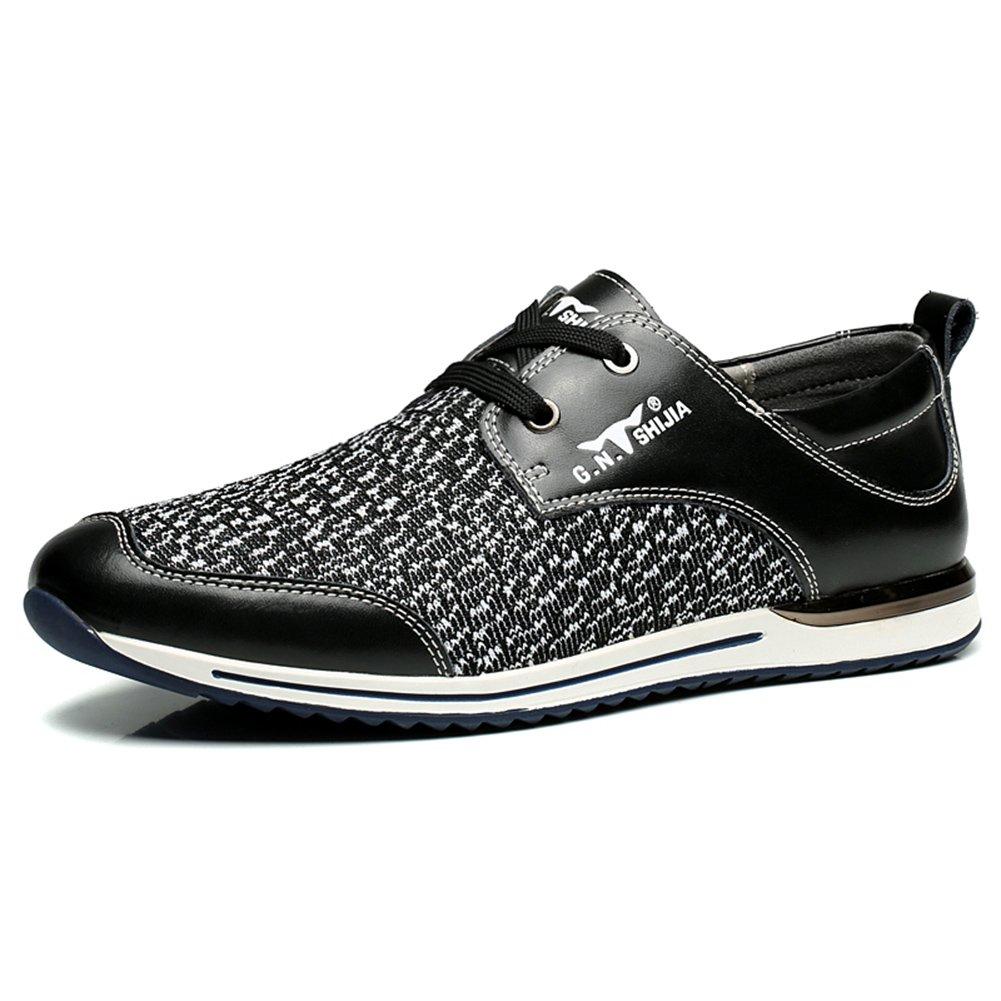 YIXINY Deporte Zapato GH-888285-1 Primavera Y El Verano Nuevo La Moda Transpirable Tejidos De Punto Calzado De Hombre Casual Al Aire Libre ( Color : Negro , Tamaño : EU39/UK6.5/CN40 ) EU39/UK6.5/CN40|Negro
