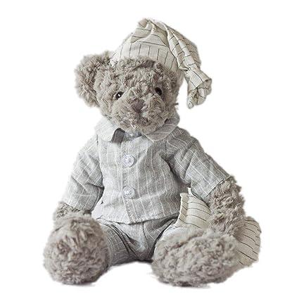 Xueliee 34cm Teddy Bear Stuffed Animal Jessie & Michael Couple Cartoon Plush Toy Cute Bear Doll for Kids Baby Christmas Birthday Gifts