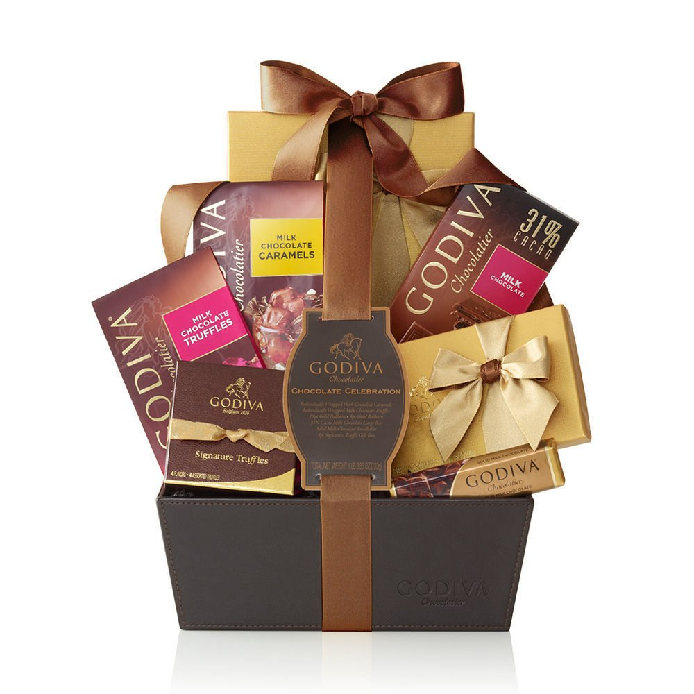 Amazon.com : Godiva Chocolatier Chocolate Celebration Gift Basket ...