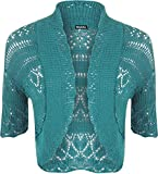 WearAll-Bolro-crochet-Hauts-Femmes-Sarcelle-40-42