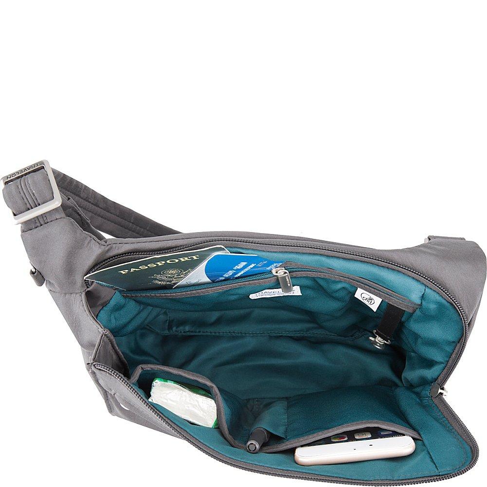 6fd4a0aabdec Travelon Anti-Theft Asymmetric East West Bag - Small Nylon Crossbody for  Travel   Everyday - (Black Dusty Rose Interior)  Handbags  Amazon.com