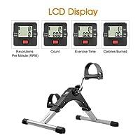 Finether Vélo Appartement Pédalier Entraînement Appareil Fitness Moniteur LCD Réglable