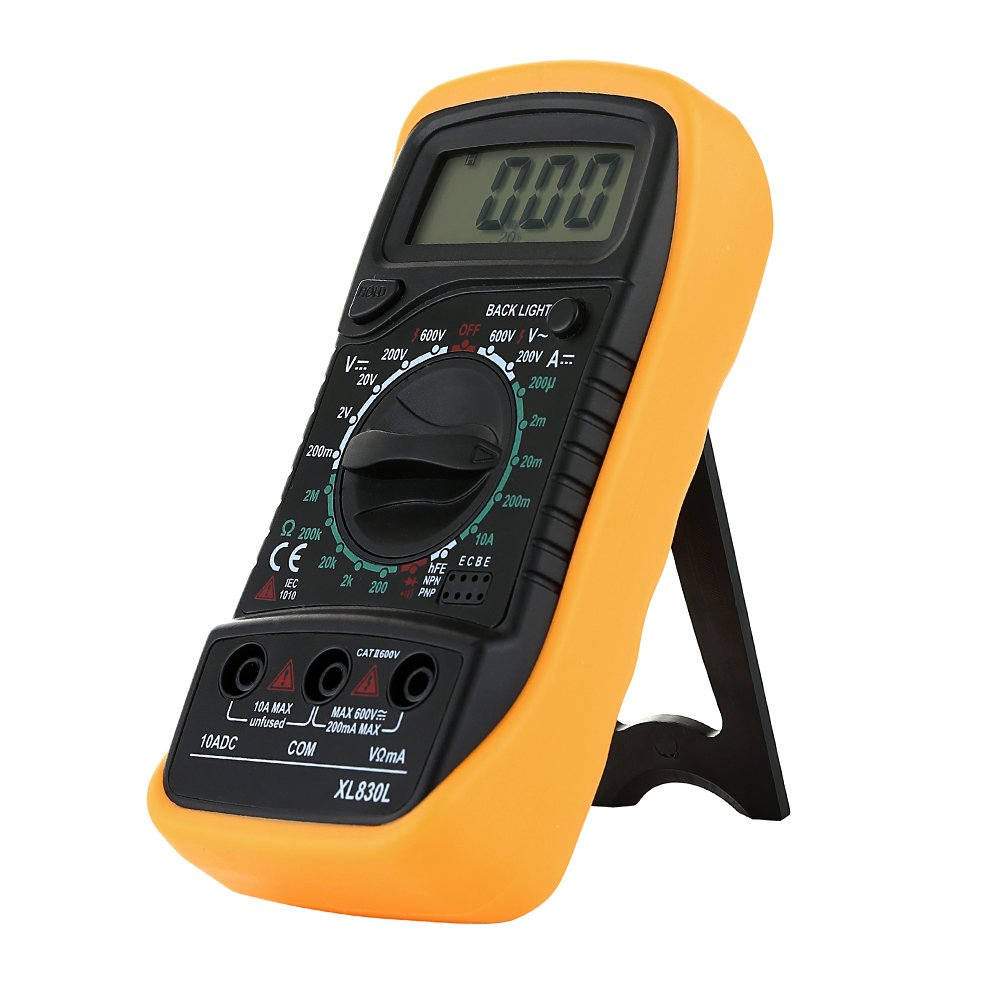 Digital Lcd Multimeter Voltmeter Ammeter Ac Dc Ohm Ohmmeter Current Circuit Checker Tester Buzzer With Test Lead Kitchen Home