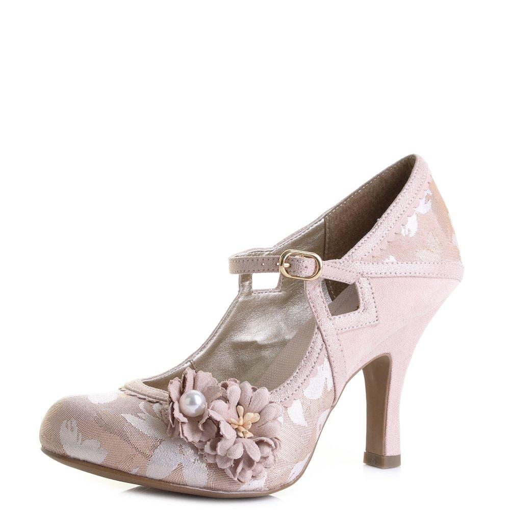 Ruby Shoo Damen Pumps Yasmin Vintage Riemchen High Heels Geschlossen Rose Gold