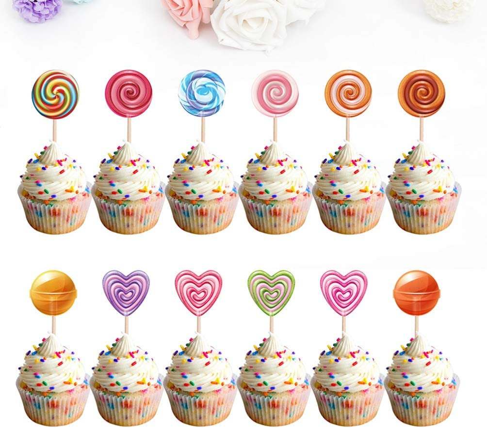 Cup Cake Topper Cake Topper 12 Pezzi Forniture per Decorazioni per Torte per Feste BESLIME Mini Figure Set Forniture per Feste Cupcake Figure