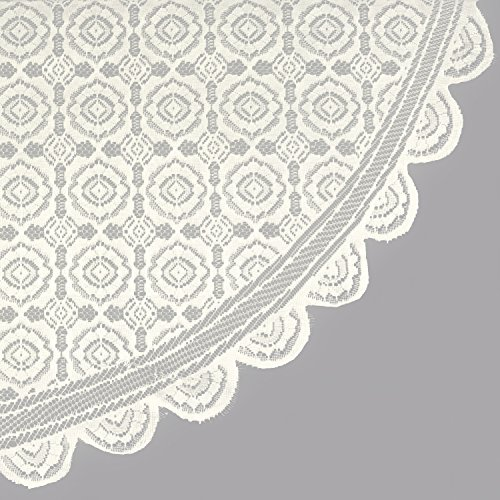 DII Home Essentials 100% Polyester, Machine Washable, Shabby Chic, Vintage Tablecloth or Overlay 63'' Round, Vintage Lace Cream by DII (Image #2)