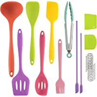 Silicone Kitchen Utensils,Perkisboby 21PCS Silicone Cooking Kitchen Utensils Set for nonstick Cookware with 2 Mini…