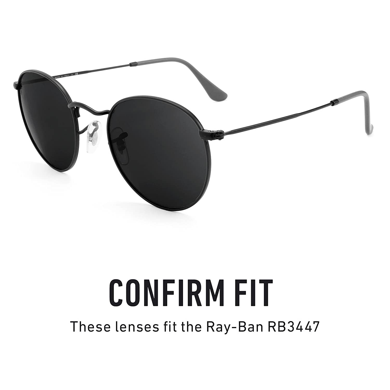 9384f288d5 Revant Polarized Replacement Lenses for Ray-Ban RB3447 50mm Elite Black  Chrome MirrorShield®  Amazon.co.uk  Clothing