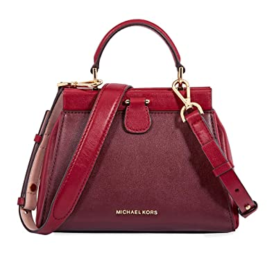 17e8bd1634b7 Amazon.com  MICHAEL Michael Kors Gramercy Frame Top Handle Color-Block  Leather Satchel Bag