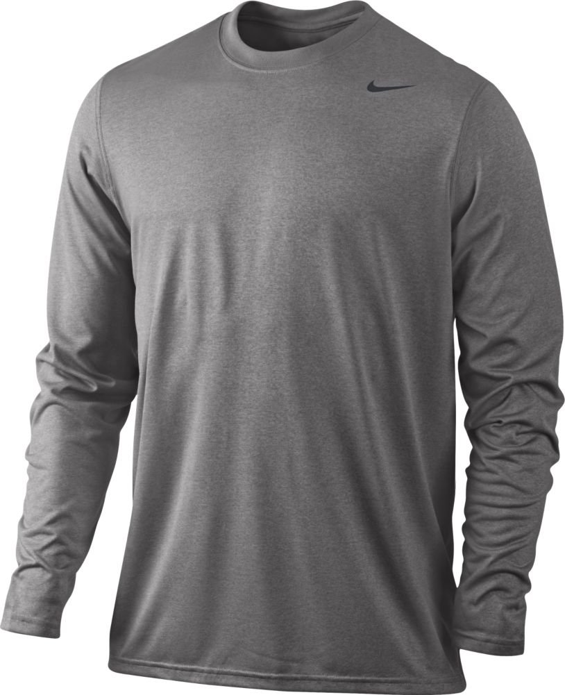 35cfbbfc41ed Galleon - Nike Grey Heather Dri-FIT Legend Long Sleeve Top (X-Large)