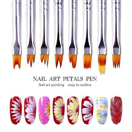 Juego de 8 pinceles 3D para arte de uñas, pinceles de pintura acrílica degradados,