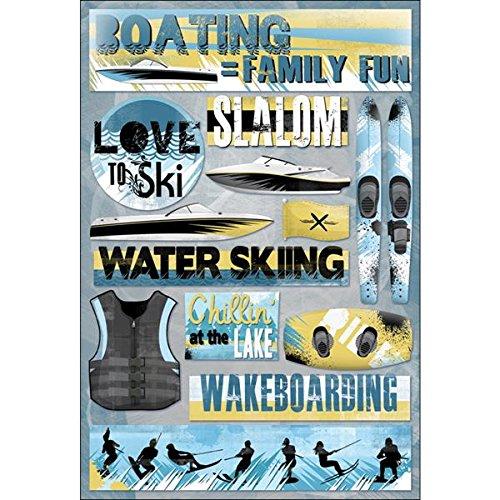 KAREN FOSTER Design Acid and Lignin Free Scrapbooking Sticker Sheet, Boating