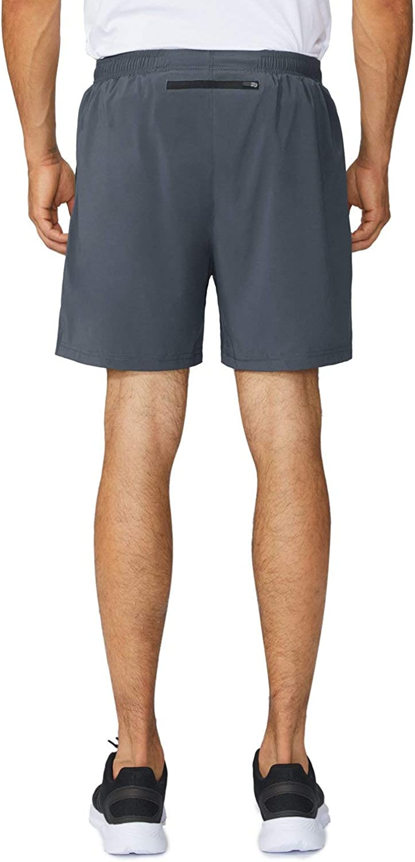 "BALEAF Men's 5"" Running Athletic Shorts Zipper Pocket: Clothing"