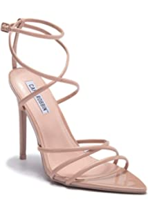 d05658c0beec Cr Cape Robbin ADA Nude Super Strappy Pointy Open Toe Ankle Strap Stiletto  Heel