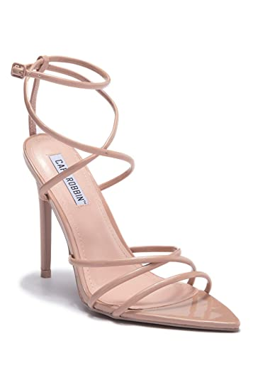 794592f1049c Cr Cape Robbin ADA Nude Super Strappy Pointy Open Toe Ankle Strap Stiletto  Heel (6.5