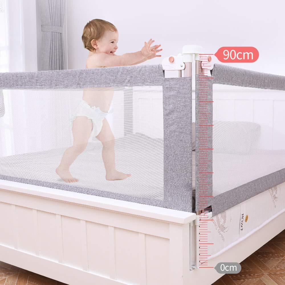 200 cm 180 cm gr/ö/ße : L-150cm MAZHONG Bettgitter Baby Kind Nacht Gel/änder bruchsicher Bett Gel/änder 150 cm grau
