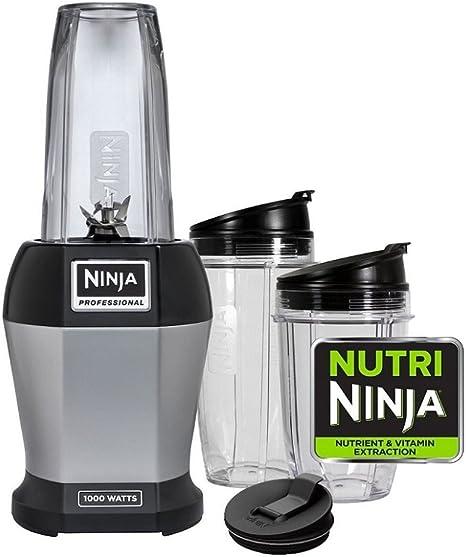 Ninja BL455_30 Nutri Licuadora personal profesional con 3 sorbos y ...