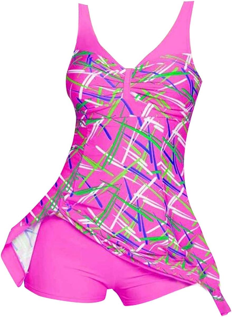 KingFon Womens Swimwear Fashion Two Piece Swimsuits Tummy Control Tankini Swimdress