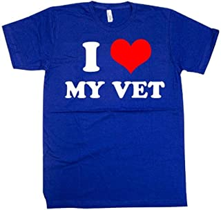 product image for S.O. Tech I Love My Vet Tee, Blue, Medium