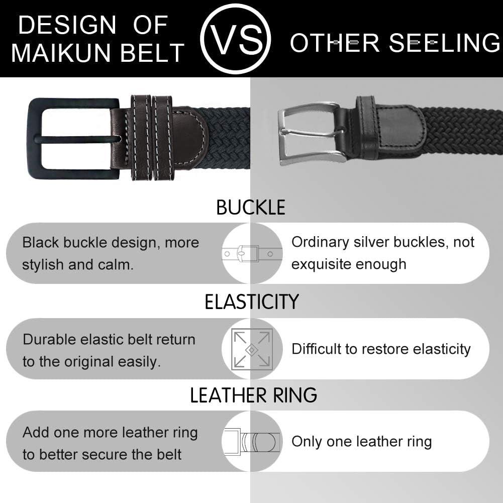 cintur/ón el/ástico para hombre hebilla de cintur/ón negro el/ástico Cintur/ón para hombre