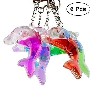 YeahiBaby 6 piezas delfín llavero flotante llavero juguete ...