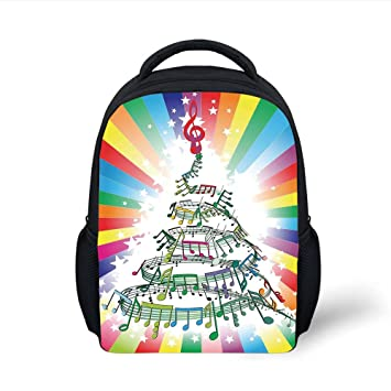 46f5072211c1 Amazon.com: iPrint Kids School Backpack Jazz Music Decor,Colorful ...