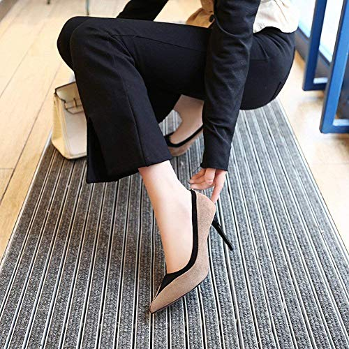 Pointant Plat Abricot Peu Abricot 36 Oudan De La Talon Femme Profonde Mélangée Aiguille Taille Mode Ensembles Couleur Simples coloré Bouche Chaussures HBRR10y8wq