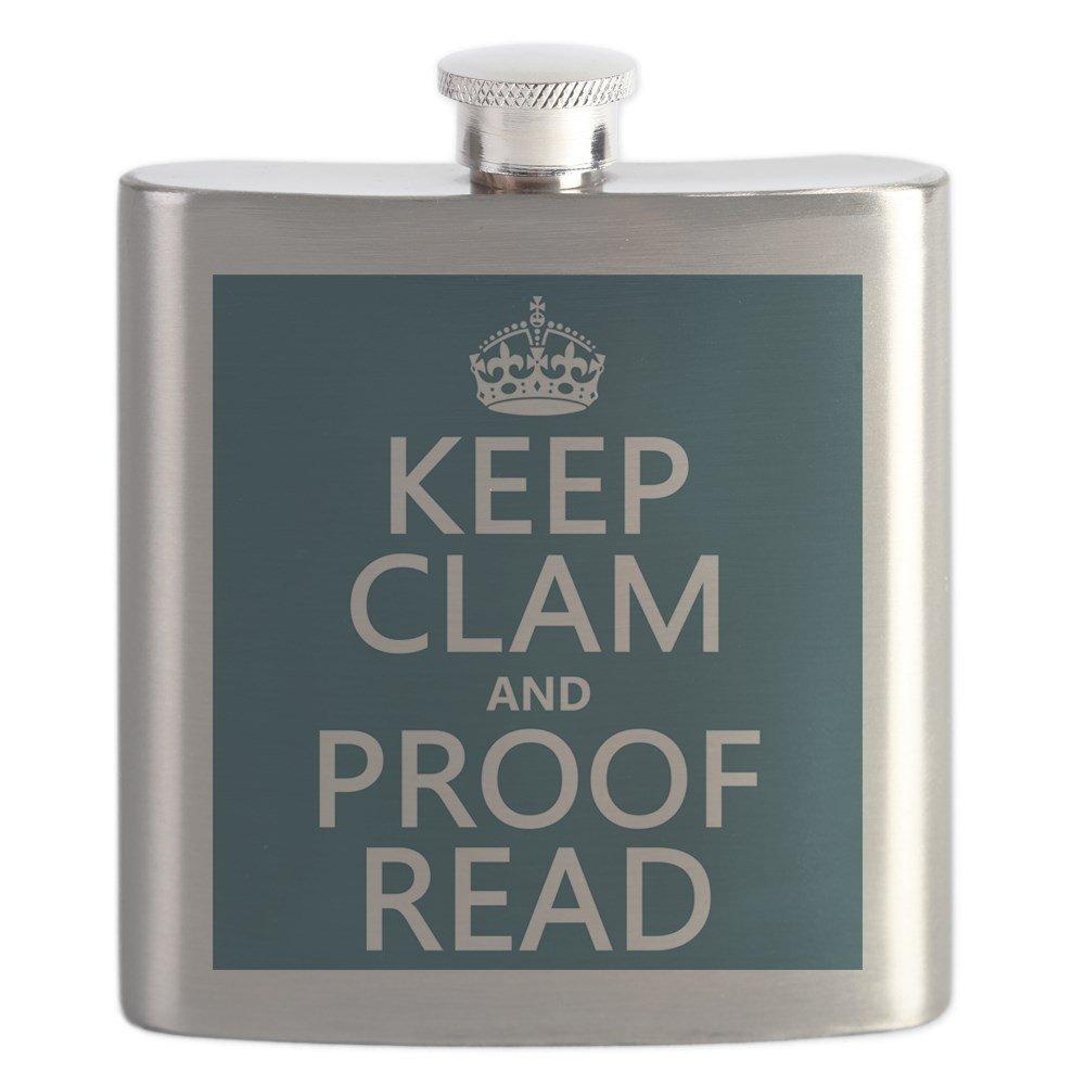 【本物保証】 CafePress – Keep Read Calm and Proof Read Proof (ハマグリ) – – ステンレススチールフラスコ、6オンスDrinkingフラスコ B01IUFRZ5Y, 豆の専門店 豆や:2f711daf --- a0267596.xsph.ru
