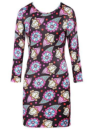 Las mujeres imprimieron vintage floral mini vestido de vacaciones de fiesta casual Sundresses