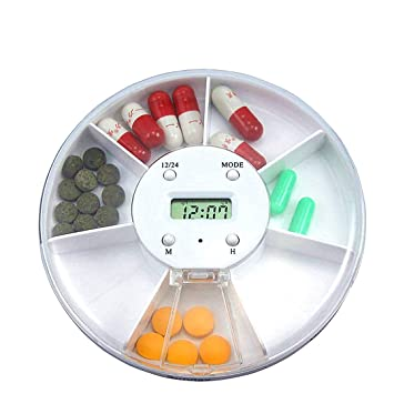 Beito Dispensador automático de píldora Despertador píldora dispensador de Pastillas recordatorio de medicación Caja electrónica: Amazon.es: Deportes y aire ...
