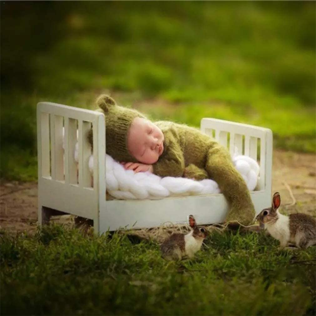 Baby Photo Small Wooden Bed Newborn Props Photography Cot Detachable Cot Newborn Photo Shoot Posing Furniture Background for Photo Studio Home Accessories Baby Photography Props Crib
