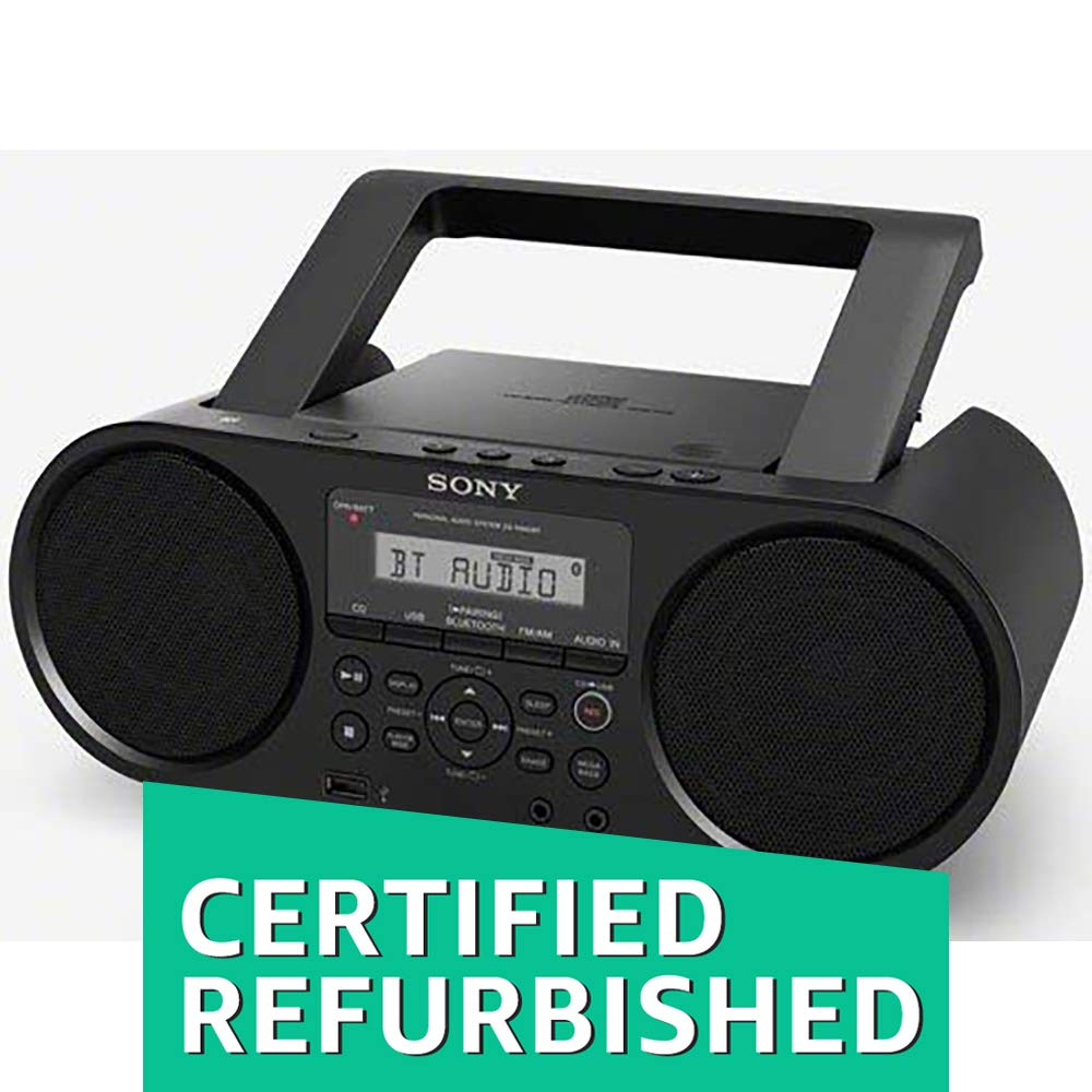 (CERTIFIED REFURBISHED) Sony ZS-RS60BT MP3 CD Radio Player with USB