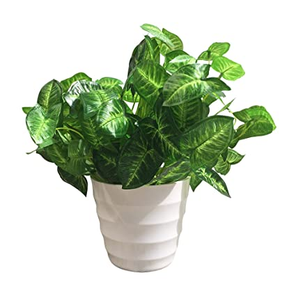 Superieur Artibell Artificial Plants, Faux Plastic Dasheen Leaf Bushes Fake  Simulation Greenery Plants Home Decor Indoor