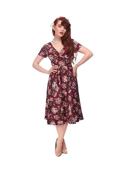 021fa07c565b Collectif Vintage Women's Bloom Print Maria Swing Dress: Amazon.co.uk:  Clothing