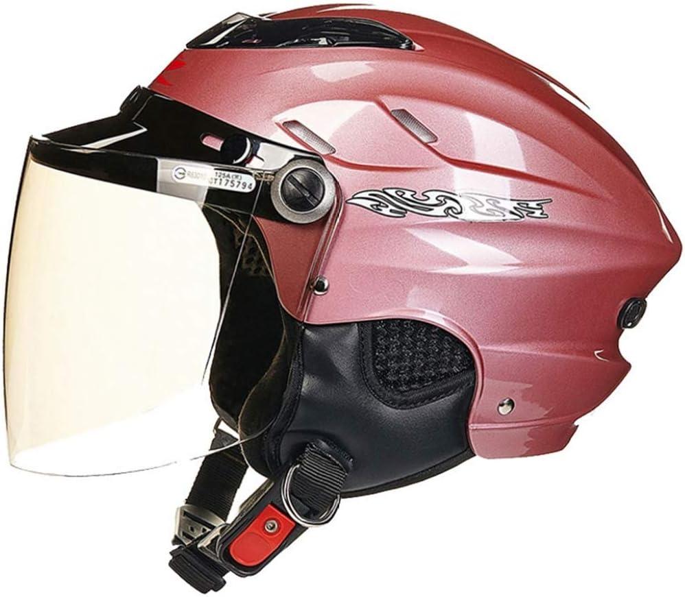 Casco Moto Semiaperto Estivo Retr/ò Protezione Solare Ciclismo Leggero Cappellini Di Sicurezza Caschi Per Moto Da Cross