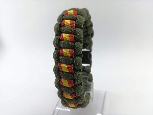 Pulsera de ESPAÑA de supervivencia hecha a mano de paracord , a ...