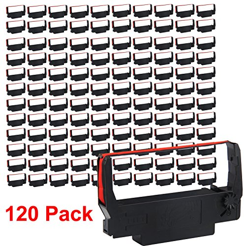 (myCartridge 120 Pack Compatible Ribbon Cartridge Replacement for ERC 30 34 38 B/R (Black Red) for use in ERC38 NK506)