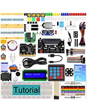 Freenove Ultimate Starter Kit for BBC micro:bit (Contained), 305 Pages Detailed Tutorial, 225 Items, 44 Projects, Blocks and Python Code, Solderless Breadboard